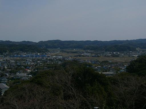 富山を眺める