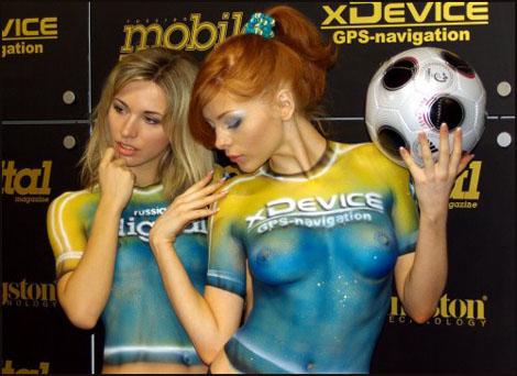 サッカーユニフォームのようなSexyボディペイントいろいろ ver3.0