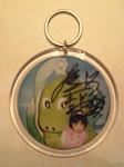 8/22 アイドルフリマ夏祭り2009@秋葉原・アキベースでGETしたチビ茉莉亜ちゃんの写真入りキーホルダーの写真(Fine Pix F601)