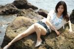 8/6プレミア撮影会1部の安井京子さん@小動岬の写真(α-7D&AF50mmマクロ:F2.8X1/1000s@ISO100)