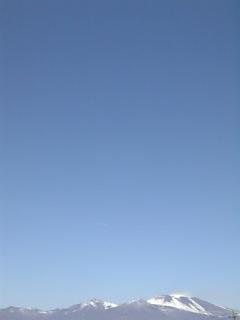 三月の浅間山