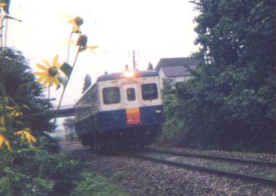 飯山線を走るキハ52