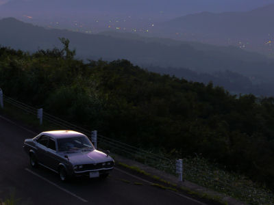 眼下に見える、六日町・塩沢の明かり