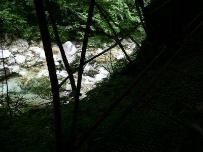川を見下ろして