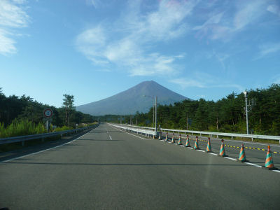 富士山見えてきたー