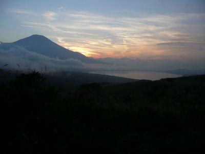 綺麗な富士山の夕焼け
