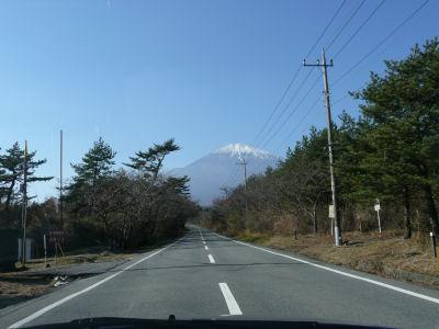 スカイラインからの富士山