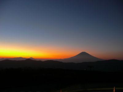 大涌谷からみる富士山