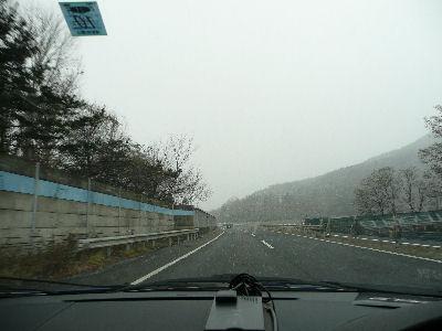 赤城の辺りから雪