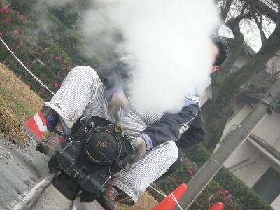 蒸気を吐いて走る9600