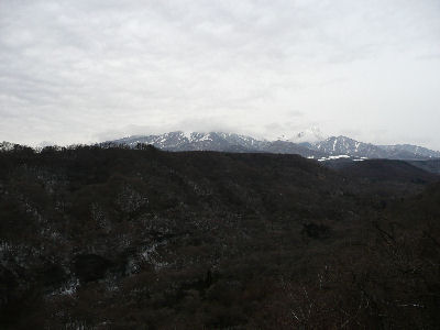 雲に隠れた八ヶ岳