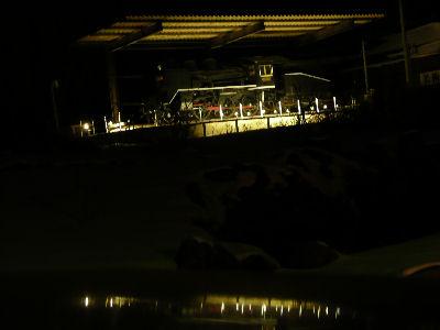 雪原の闇夜に浮かぶC56