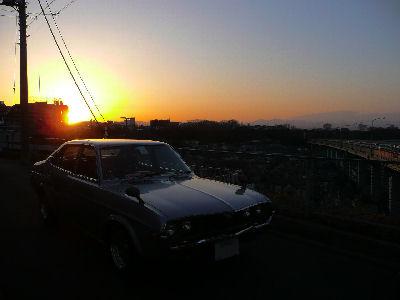 マツダルーチェと'08/03/01の夕焼け