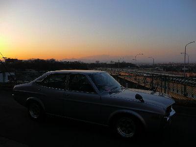 ルーチェと'08/03/01の夕焼け