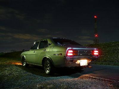 ルーチェと深夜の堤防