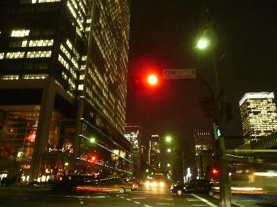 東京国際フォーラム横の交差点