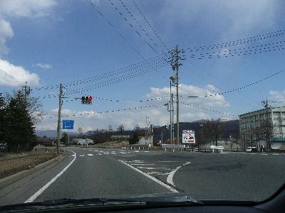 野辺山駅前の交差点