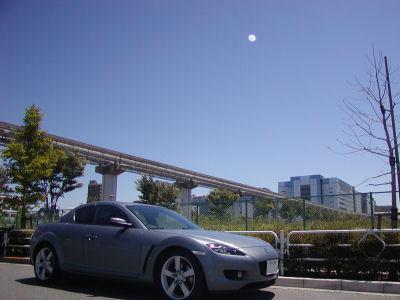 マツダSE3P・RX-8と梅雨の青空