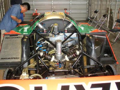 マツダ787Bのエンジンルーム