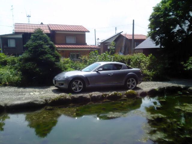 RX-8と池