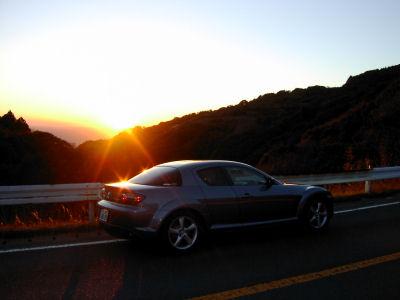 RX-8と夕日