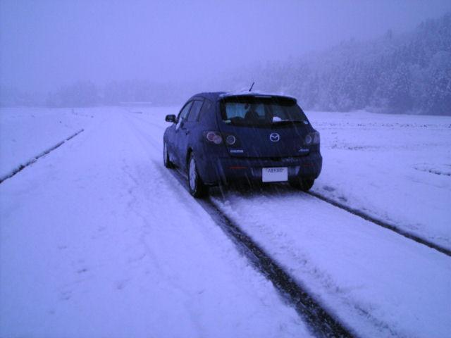 アクセラ、雪原へ