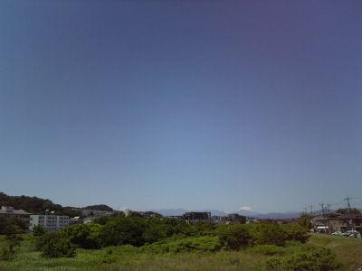 綺麗に見えた今日の富士山