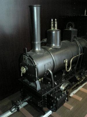頚城鉄道で走っていたコッペルの模型その1