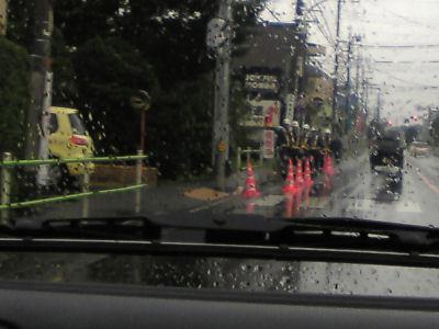 横田基地北側の検問