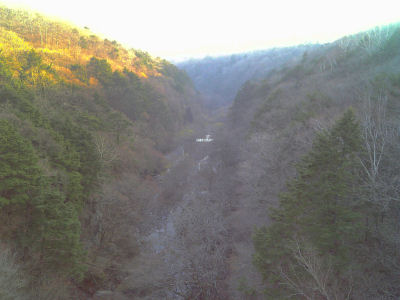 東沢大橋からの眺め