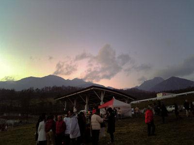 夕焼けの八ヶ岳