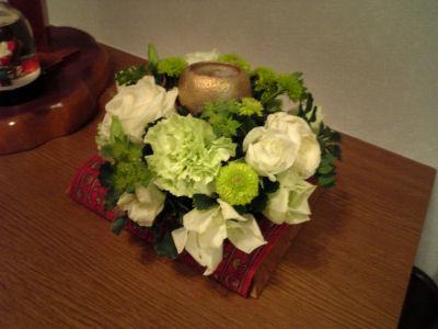 結婚式でもらったお花