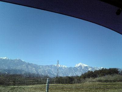 如月の甲斐駒ケ岳