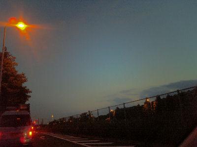 '08年6月最後の夕焼け