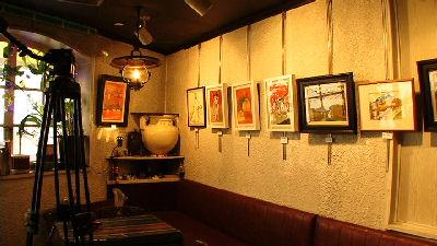 喫茶店の絵