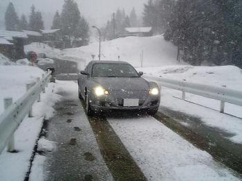 マツダRX-8と雪