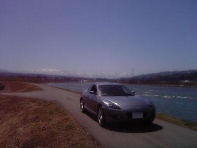 信濃川とRX-8