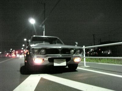 ルーチェと夜の路上
