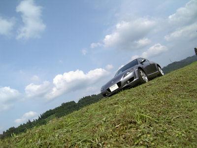 マツダRX-8と青空