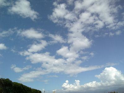 伊那谷の青空