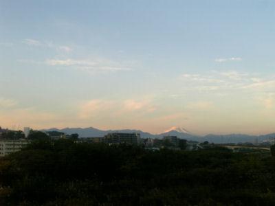 通勤途中に見える富士山