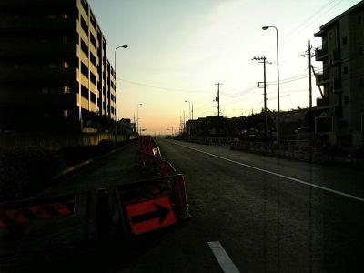 日野バイパスの朝