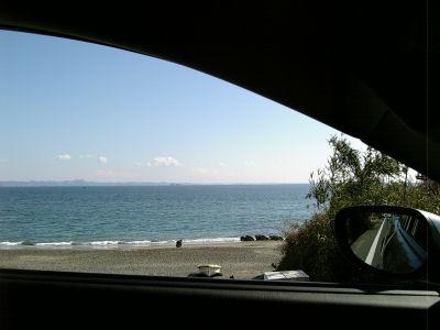 RX-8から眺めた三浦半島の海