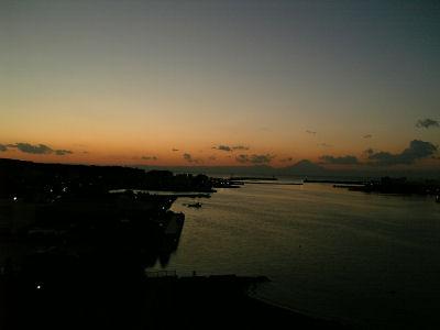 三浦半島から眺めた夕焼け