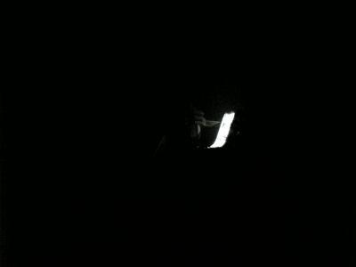ライトアップされたジャンプ台
