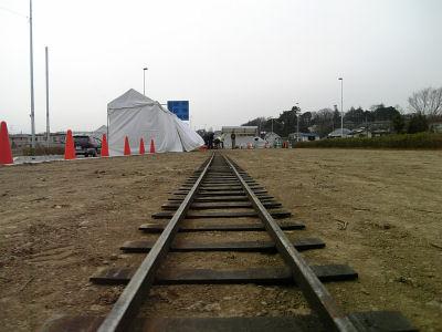 敷設されたレール
