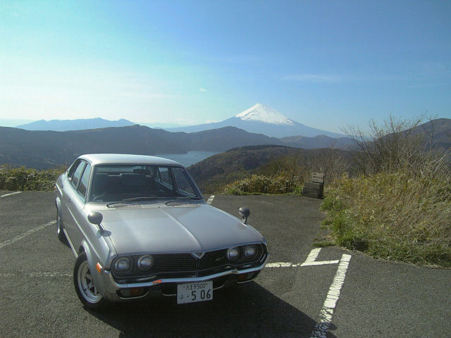 ルーチェと芦ノ湖と富士山