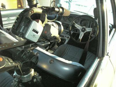 車内をVTR撮影