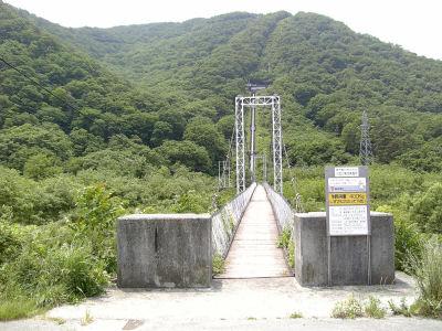 揺れるつり橋