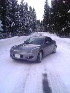 RX-8と雪